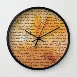 Do You Remember... Orange Wall Clock