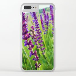 sage salvia meadow Clear iPhone Case