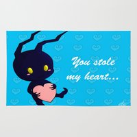 kingdom hearts Area & Throw Rugs featuring Kingdom Hearts - Heartless by UncannyViolet