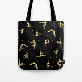Black and Gold Gymnastics Tote Bag