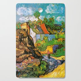 Vincent Van Gogh - House in Auvers Cutting Board