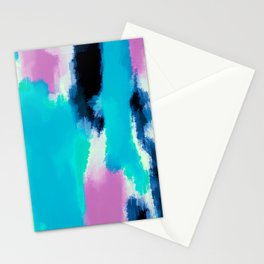 pink black and blue painting texture abstract background Stationery Cards