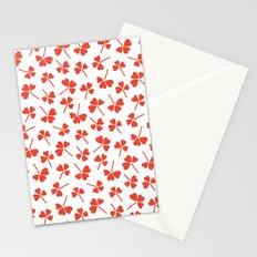 Retro clover Stationery Cards
