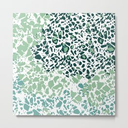 Different Green Abstract  Metal Print