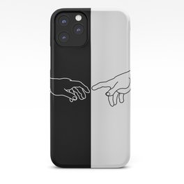 Hands of God and Adam- The creation of Adam iPhone Case