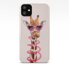 THIRSTY GIRAFFE iPhone Case