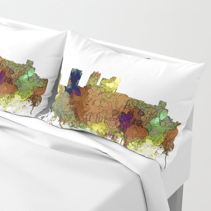 Birmingham, Alabama Skyline SG - Safari Buff Pillow Sham