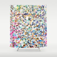 confetti Shower Curtains featuring Confetti by FRAXTURED