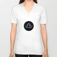 libra V-neck T-shirts featuring Libra by rusanovska