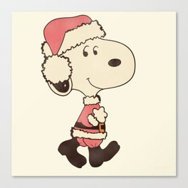 Merry Snoopy Christmas Canvas Print