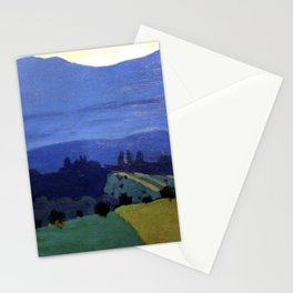 Felix Vallotton -  Landscape in the Jura Mountains (new color editing) Stationery Cards