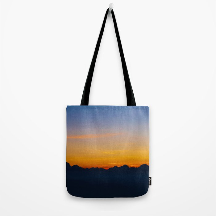 Wispy Mountain Glow Tote Bag