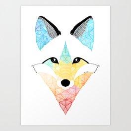 Fox multicolor Art Print
