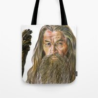 gandalf Tote Bags featuring Gandalf by Labani