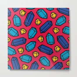 Bright Gems Pattern Metal Print