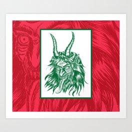 Here Comes Krampus! Art Print