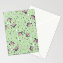 Teatime Spider - Green Stationery Cards