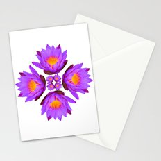 Purple Lily Flower - On White Stationery Cards