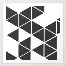 T R I _ N G L S (BLK) Art Print