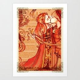 Alls Well That Ends Well - Romantic Shakespeare Folio Illustration Art Print