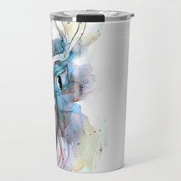 Deer- Blue Travel Mug