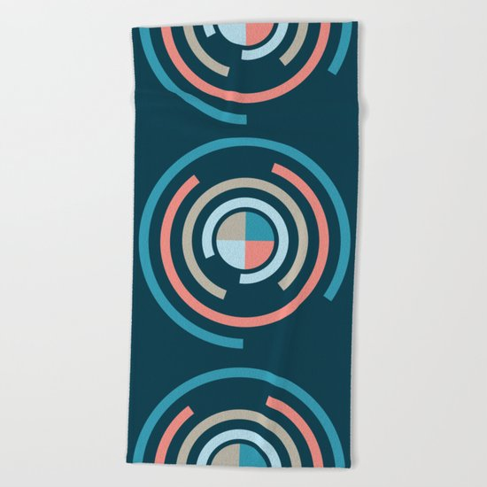 Colorful Circles V Beach Towel