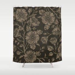 Midnight Blooms Shower Curtain