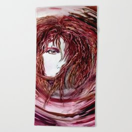 Dream in Reds Beach Towel