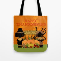 thanksgiving Tote Bags featuring Thanksgiving by BLOOP