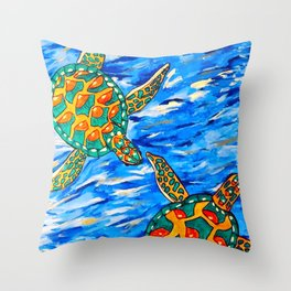 Slow Drift Throw Pillow