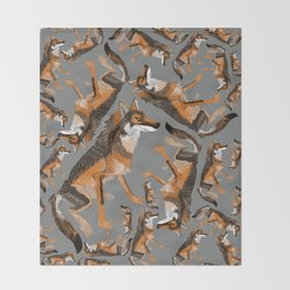 Totem Iberian wolf Throw Blanket