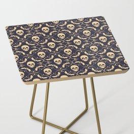 Happy halloween skull pattern Side Table