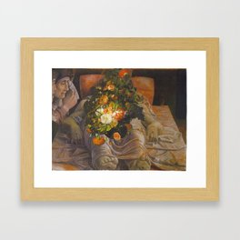 Qui est ce mec ?  Framed Art Print