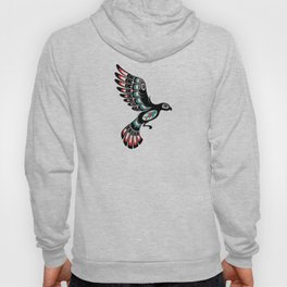 Red and Green Haida Spirit Flying Bird Hoody