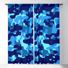 Camouflage (Blue) Blackout Curtain