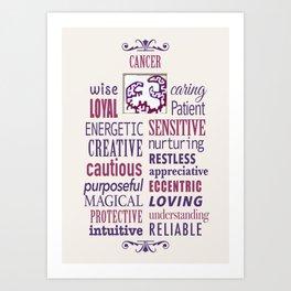 The Zodiac: Cancer Art Print
