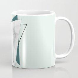 Abstract Geometric Triangle White Marble Mint Green Coffee Mug