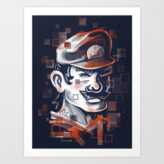 Depixelization M Art Print