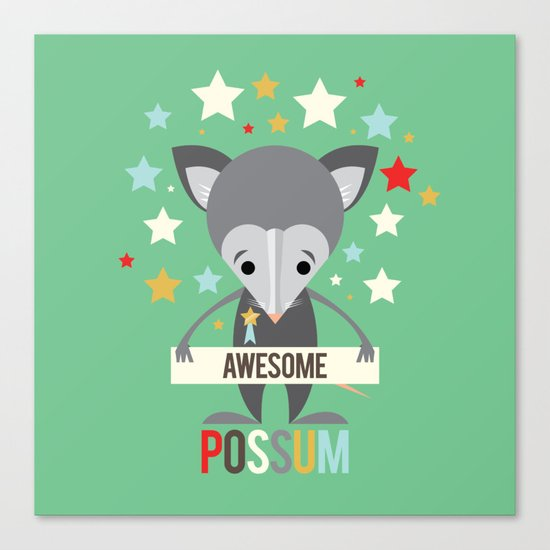 Awesome Possum Canvas Print