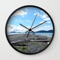 kirby Wall Clocks featuring Camp Kirby by Krista Dawn