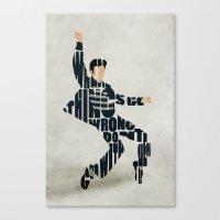 elvis presley Canvas Prints featuring Elvis Presley by Ayse Deniz