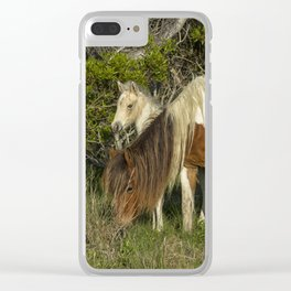 Chincoteague Foal No. 1 with Mother Clear iPhone Case