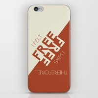 kerouac iPhone & iPod Skins featuring Kerouac Says by nine & five