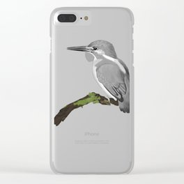 Kingfisher in gray Clear iPhone Case