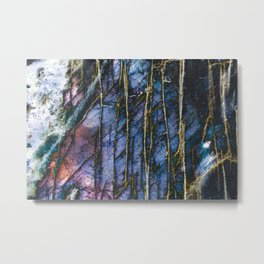 Snowy Forest Night Metal Print