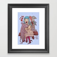 Let's get friendly, stranger Framed Art Print