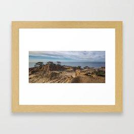 Mid-morning at Broken Hill Trail, Torrey Pines State Park, San Diego, California Framed Art Print