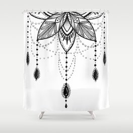 Flowing Mandala Chandelier Drawing Shower Curtain