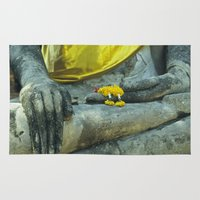 buddhism Area & Throw Rugs featuring Buddha in Thailand by Maria Heyens