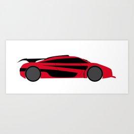 Modern Fast Car Art Print